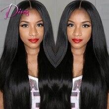 Hot selling remy full lace wigs light yaki font b straight b font 100 human font