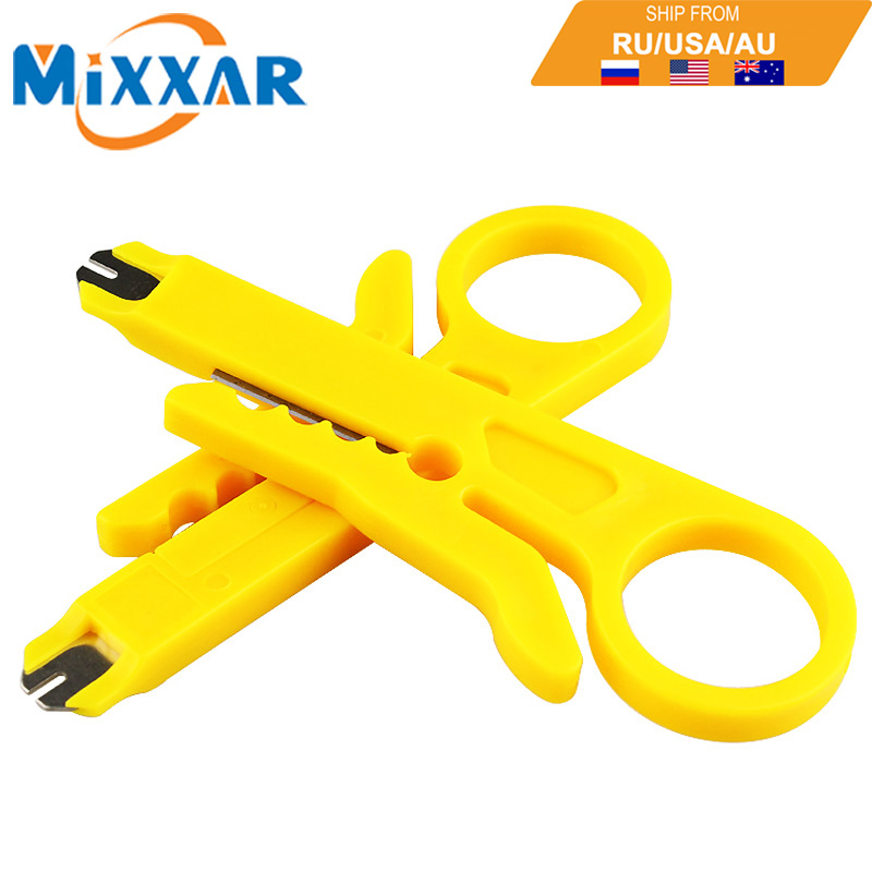 ZK20 Portable 2pcs/lot Mini Wire Stripper Knife Network Cable Crimping Pliers Hand Tool Stripping Wire Cutter Multi Tools 3 in 1 multi tool automatic adjustable crimping tool cable wire stripper cutter peeling pliers repair hand tools diagnostic tool