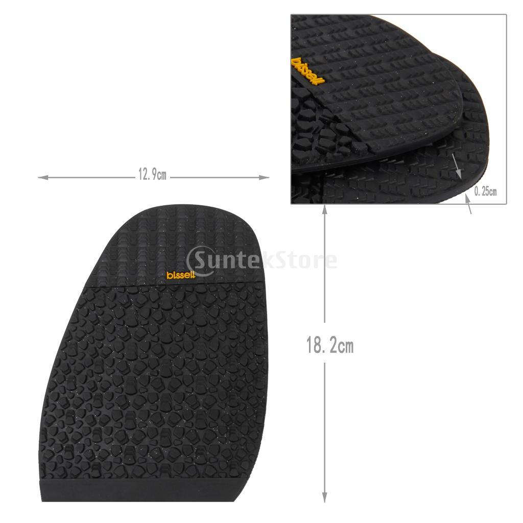 Pair Footful Rubber Glue on Soles Outdoor Anti-Slip Shoe Repair 2.5mm Thick