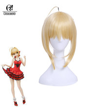 ROLECOS Fate EXTRA Cosplay Headwear Saber Nero Cosplay Medium Blonde Braiding Synthetic Hair Altria Pendragon Fate Stay Night(China)