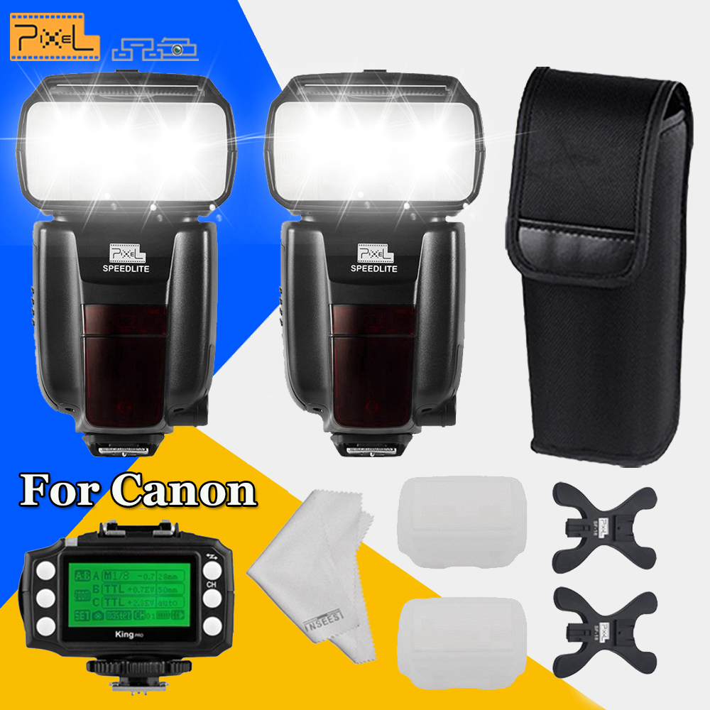 2 * Pixel M8 GN60 Flash Flashlight & KING PRO Wireless TTL Flash Trigger Transmitter For Canon 50D 60D 1100D 1000D700D 750D 650D canon 1100d в одессе
