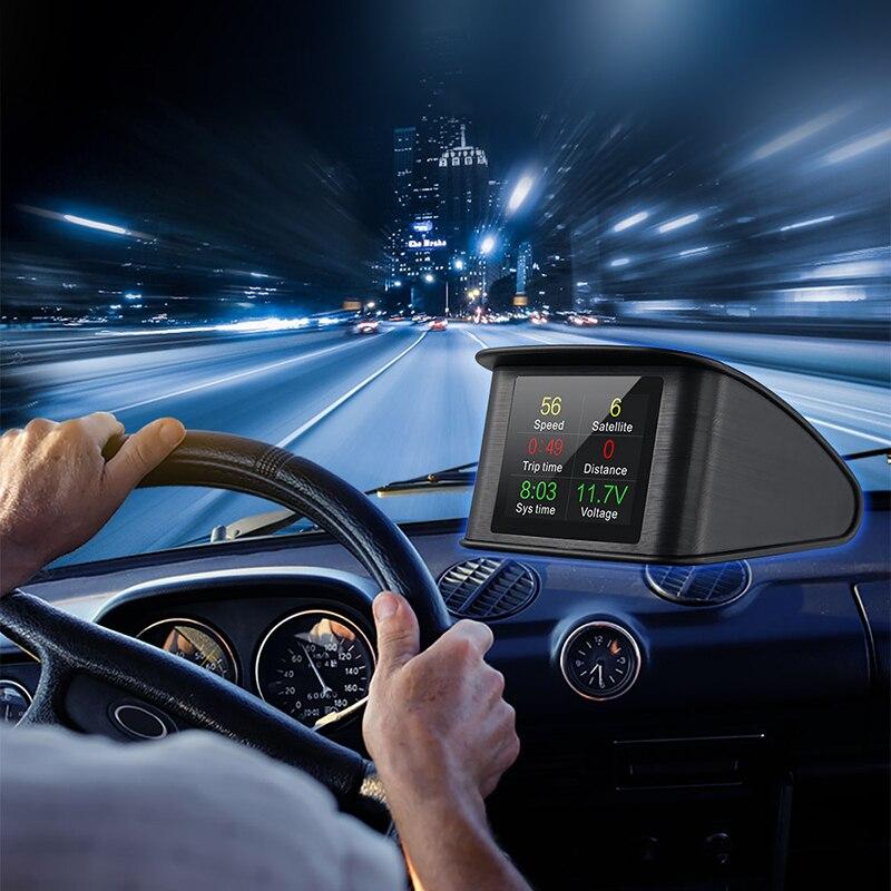 Universal Car GPS HUD Head Up Display Smart Digital Meter GPS Speedometer Car HUD Display GPS
