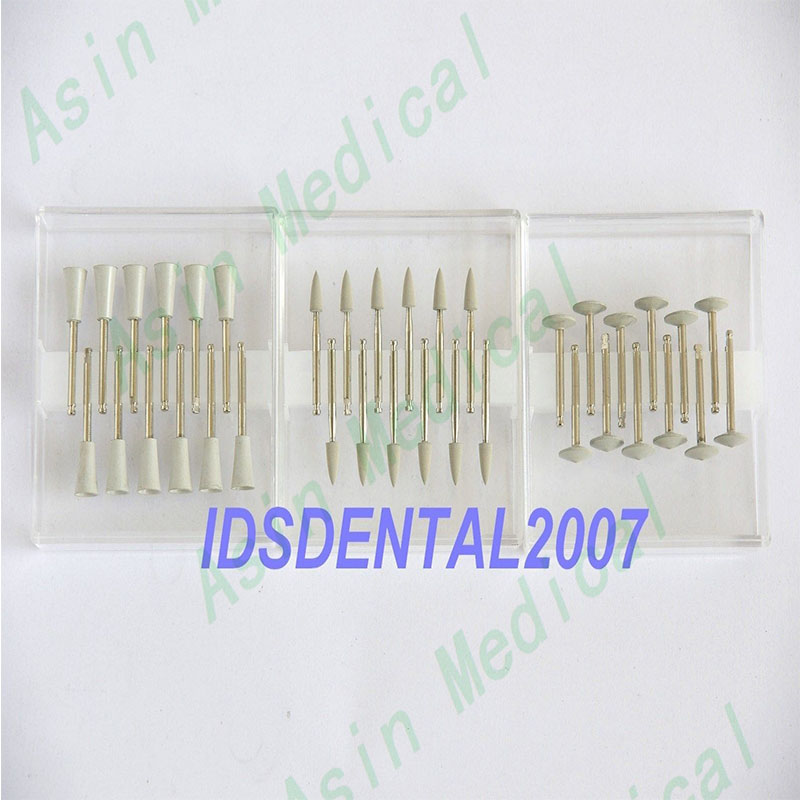 36PCS x Dental Silicone Point Polisher RA White Composite NEW dental material polisher deasin 3 kits dental clinic polisher brush burs for composite resin and porcelain dentist material