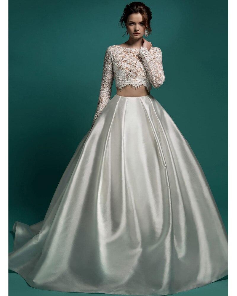 Two Piece Princess Wedding Dresses