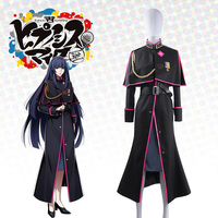 Japanese Voice Actor Division Rap Battle Otome Tohoten Cosplay Costume custom Military Uniform Long Trench Jacket Badge Armlet