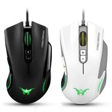 Combaterwing CW10 Professionnel Esport Souris De Jeu USB Filaire Souris 7D Boutons 4800 DPI Gaming Mouse avec LED Lumière pour PC Gamer