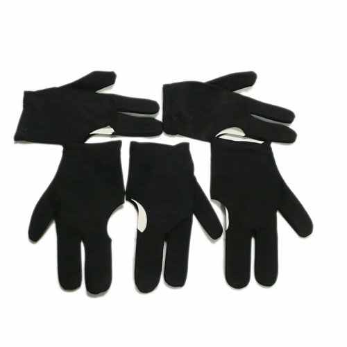 PROMOTION!New UK  5 Black Billiards Pool Snooker Cue Shooters 3 Fingers Gloves