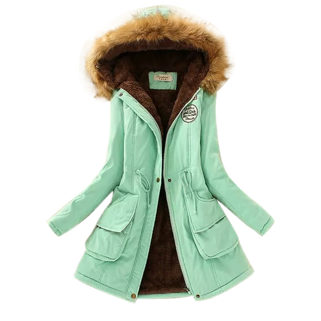 Winter Warm Coat Women Long Parkas Fashion Faux Fur Hooded Womens Overcoat Casual Cotton Padded Jacket Mutil Colors