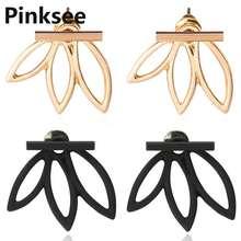 Модные ювелирные изделия простые эффектные ажурные серьги гвоздики