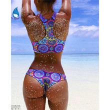 crop top bikini set bikinis women swimsuit women sexy bandage Sport blue Surf Triathlon Sexy Swimwear
