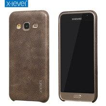X Уровня Люкс Ретро PU Кожаный Чехол для Samsung Galaxy J3 2016 j320 Задняя Крышка Крышка для Samsung J3 6/J320F/J320A Старинные случаях