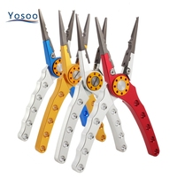 Fishing Pliers Fishing Line Scissors Stainless Steel Cutter Multifunctional Plier Fishing Accessories With Rope Bag High