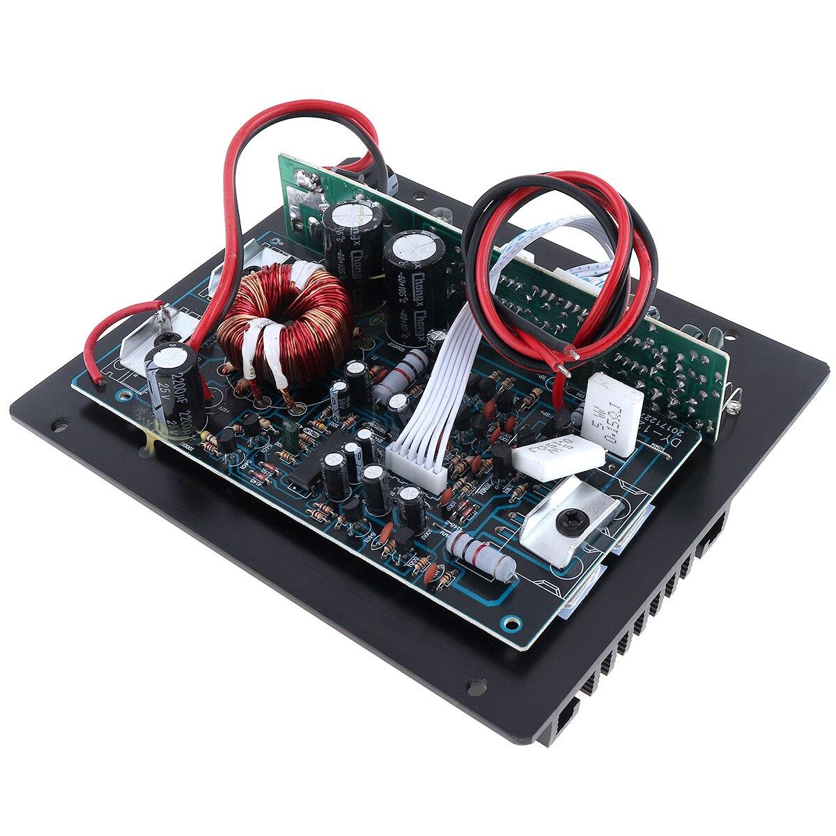 12V 400W Auto Verstärker Klasse AB Digital 2 Kanal Schwarz Aluminium Legierung High Power Auto Audio AMP Subwoofer verstärker Für Auto Home