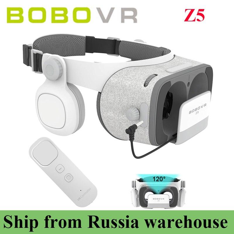 Bobovr Z5 Daydream стерео для 4.7-6.2 дюймов + гироскоп VR контроллер картонный шлем виртуальной реальности 3D Очки VR телефон Гарнитуры поле