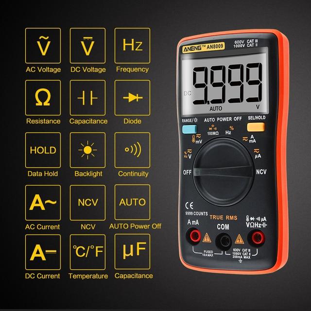 Voltage Symbols On Multimeter : Aneng an true rms auto range digital multimeter ncv