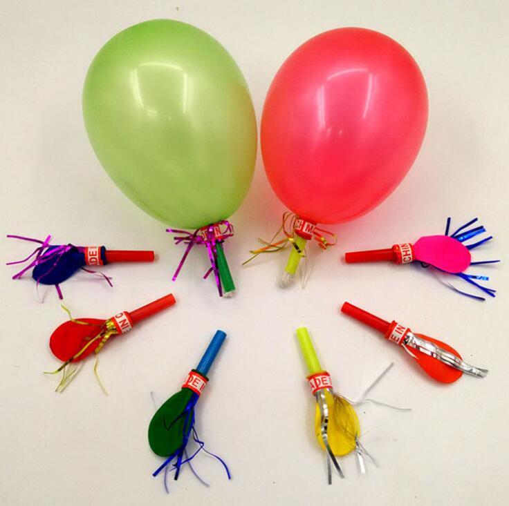 Golden Globe Ballon Whistler Ballon Pfeife Ballon Klingeltöne Kinder Spielzeug