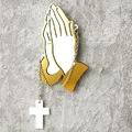 Praying hands Brooches Zen gesture Brooches Acrylic Fashion Brooches Fashion Woman's Jewelry
