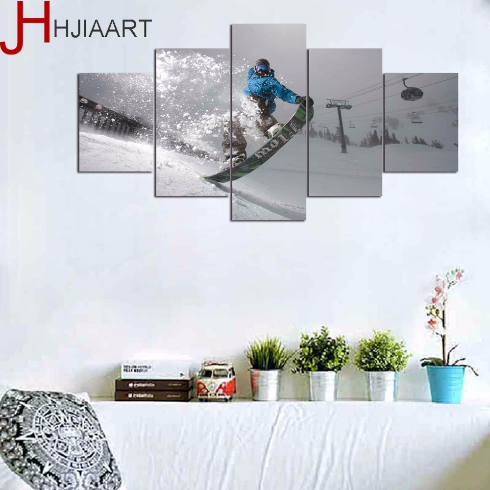 HD Printed Sports Surfing Painting On Canvas Room Poster Gaming Picture Sports Canvas Framed for Home Wall Art Decor