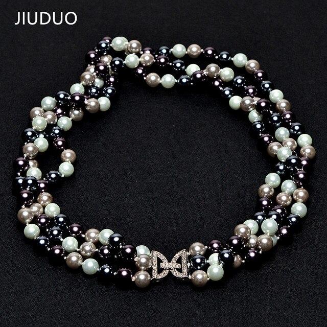 e2a4ed14421d Envío Gratis Natural Shell Mar del Sur collar de perlas perla tres modelos  femeninos de lujo