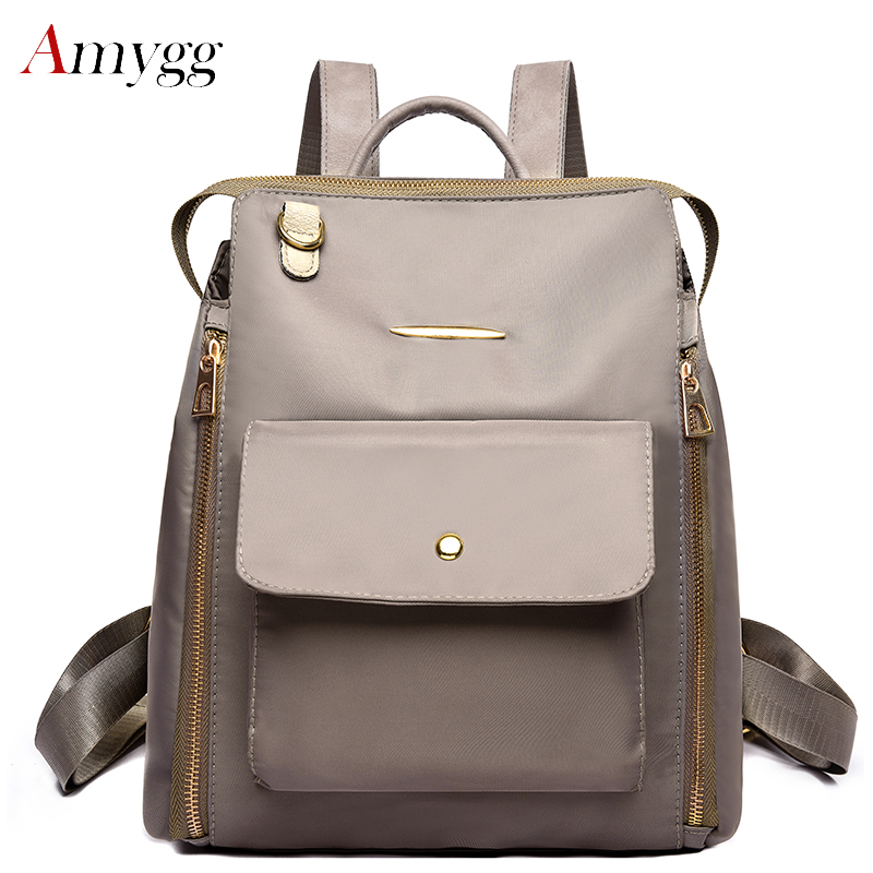High Quality Nylon Oxford Waterproof Multifunction Backpacks Women Large Capacity Travel Backpack Famous Designer Shoulder Bags