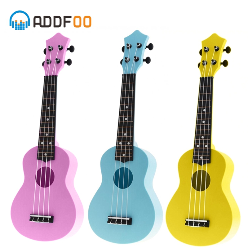21 Inch Acoustic Ukulele Uke 4 Strings Hawaii Guitar 3 Colors With Guitar Picks Stringed Instrument For Kids And Music Beginner