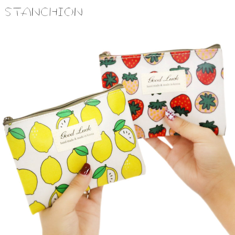 STANCHION Small Fresh Coin Purse Female Mini Cute Simple Student with Zipper Money Bag Coin Wallet