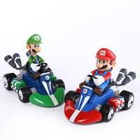 """Super Mario Bros Kart Auto Mario Luigi Kart Racing Auto PVC Spielzeug 4 """"10 cm set von 2 SMFG017"""