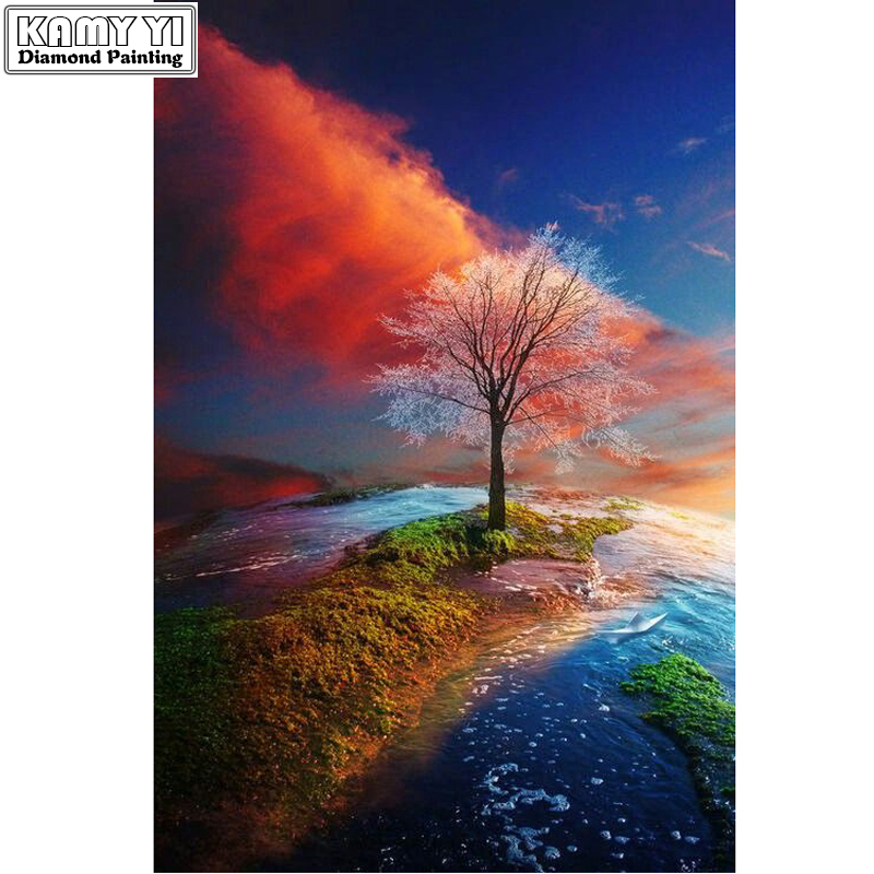 Full Square drill 5D DIY Diamond embroidery Scenery Of A Tree Diamond Painting Cross Stitch Rhinestone Mosaic decoration