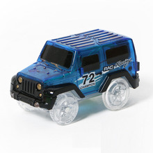 Electronic LED Car Toys Flashing Lights Boys Gift Mini Race Track Car Kids Flexible Racing Cars Play with Glow Race Track Toy professional race lap timer applies to track car motorcycle karting car bike