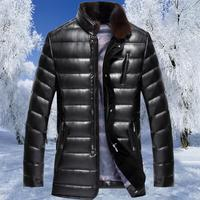 Hot Winter Middle Aged Father Plus Velvet Thick Leather Jacket Men S Leather Jacket Men Natural
