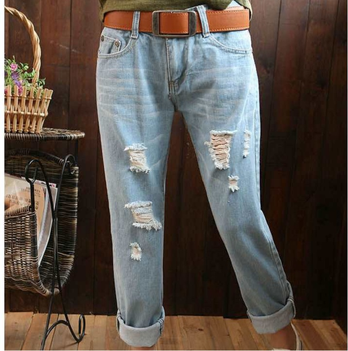 Aliexpress.com : Buy loose ripped jeans women plus size large size ...