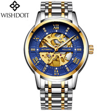 2019 NEW  WISHDOIT Mens Watches Top Brand Luxury Automatic Mechanical Watch Men Fashion Business Waterproof Clock