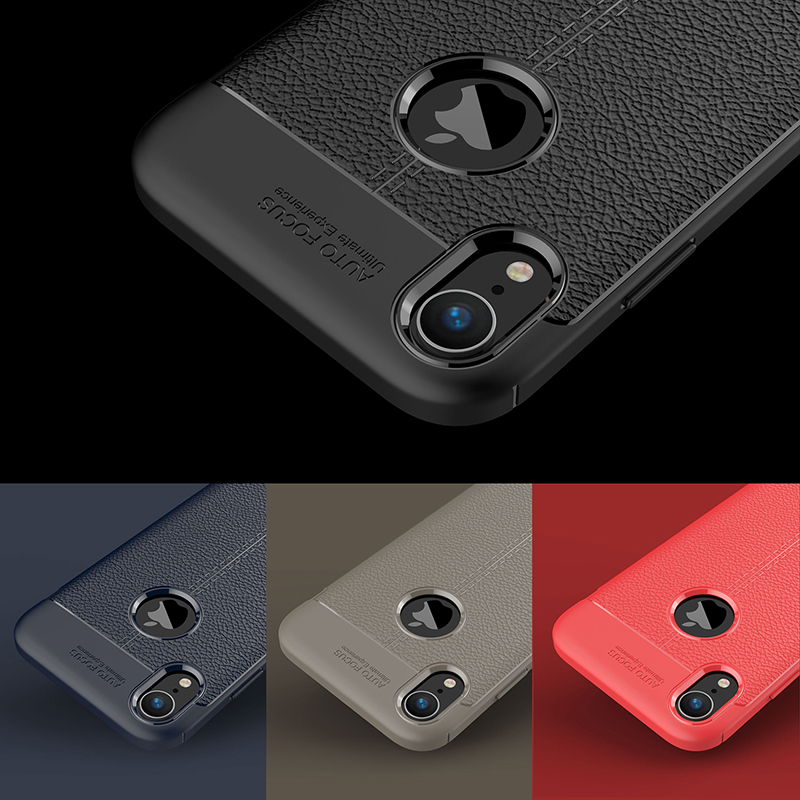 Carbon Silicone Case For iPhone Xs Xs Max Case 360 Luxury Leather Soft TPU Case For iPhone Xr Xs Max X 10 Case Coque             (10)