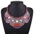 Venta caliente Nuevo Estilo Collar de Gargantilla de Cristal de Bohemia Nueva Moda Geométrica Acrílico Chapado En Oro Collar de Las Mujeres para Los Regalos de Navidad