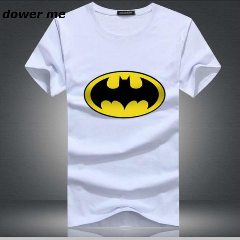 2017 New Fashion Cartoon Batman T Shirts Men O Neck Short Sleeve Cotton Mens T-Shirt Euro Size Man Tshirt Tops Free Shipping