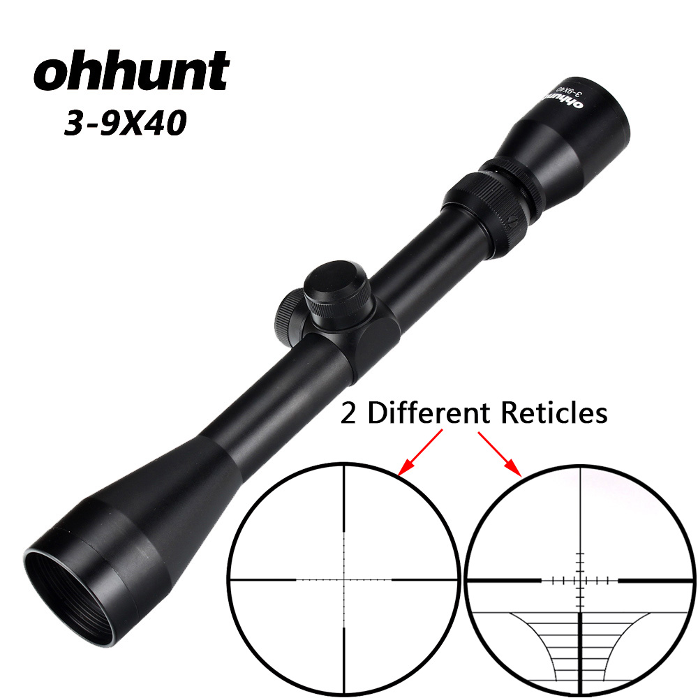 Ohhunt 3-9X40 Fio Caça Air Rifle Scope Rangefinder Retículo Besta ou Mil Dot Retículo Riflescope Tático Mira Óptica