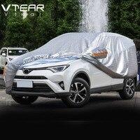 Vtear For Toyota RAV4 RAV 4 Car Covers Dustproof Protection Thicken Aluminum film Outdoor Full Car Cover Accessories 2013 2019