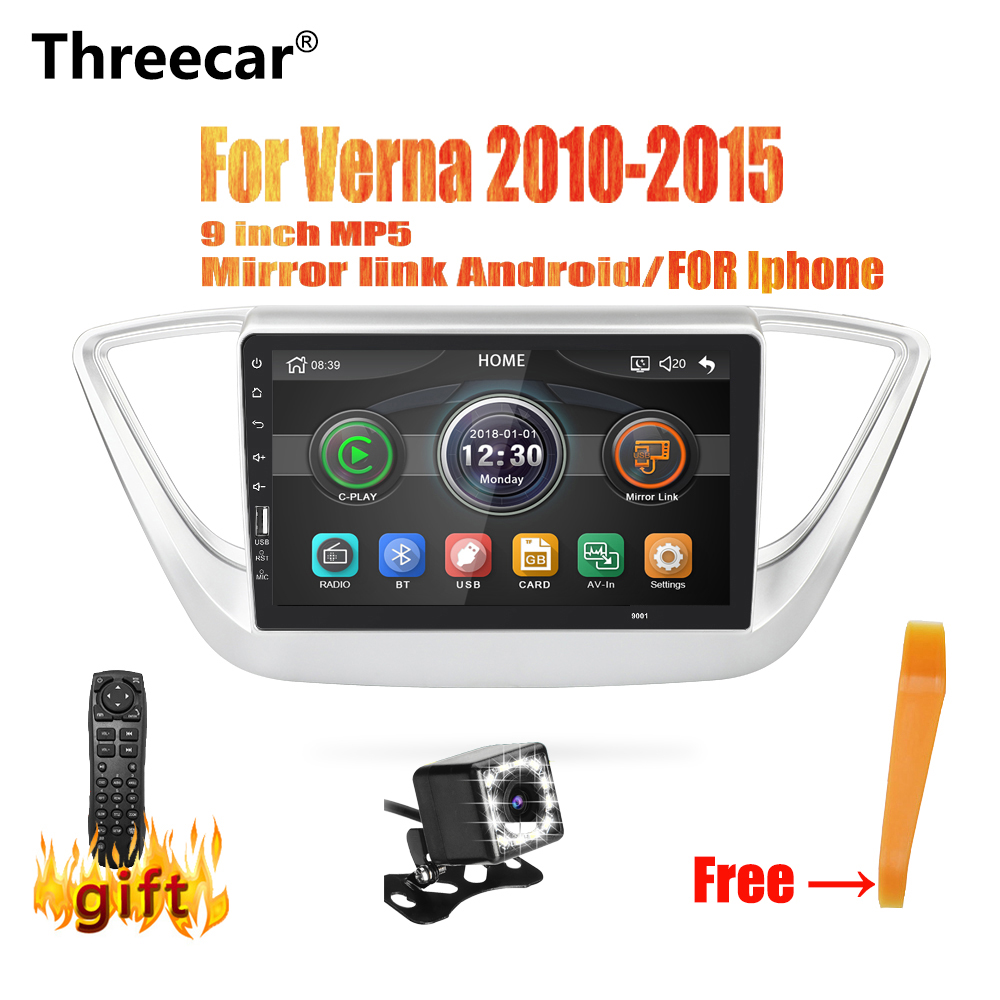 Threecar 9 inch Car Radio Mirrorlink iPhone Android 9.0 Car Radio Multimedia MP5 Player For Verna 2010 2011 2012-2015 No AndroidThreecar 9 inch Car Radio Mirrorlink iPhone Android 9.0 Car Radio Multimedia MP5 Player For Verna 2010 2011 2012-2015 No Android