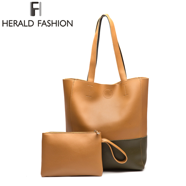 Herald Fashion Luxury Designer Fashion Big Handbags Women Bags Designer Shoulder Bag Female  Satchel Bag