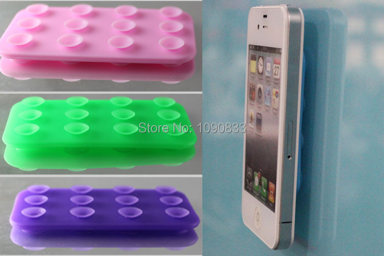 universal mobile phone holder <font><b>Double</b></font> Side Silicone sucker Anti-slip <font><b>Suction</b></font> <font><b>Cup</b></font> Holder for all cellphones Free Shipping