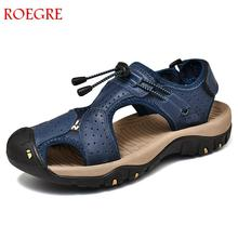 New Casual Men Soft Sandals Comfortable Men Summer Genuine L