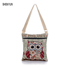 Hot Sale Luxury Canvas Women Beach Bag Owl Print Designer Women Shouder Bag Brand Fashion Female Shop Bag Summer Women Handbag
