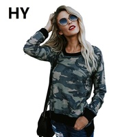 NEW Sexy Blouses For Women Camouflage Print Ladies Long Sleeve T Shirts Irregular Party T Shirt