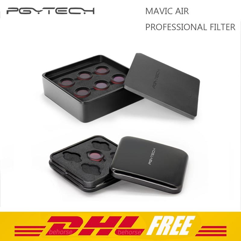 PGYTECH DJI Mavic Air Professional Filter Kit UV CPL ND8 ND16 ND32 ND PL Filter for