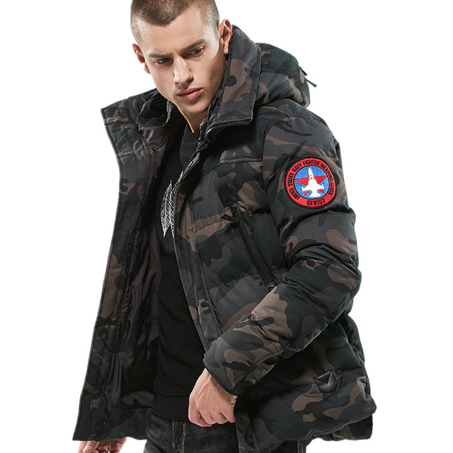 Cheap Drop Shipping Winter Men's Fashion Camouflage Parkas Casual Winter Jackets Men Military Tactical Overcoat Padded Streetwear Male