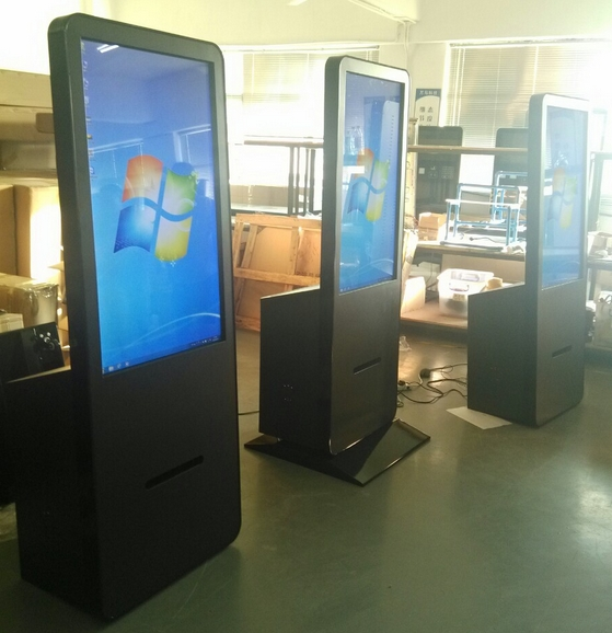 Wireless WIFI PC Built In Self-service Payment Receive Kiosk  TFT LCD Touch Photo Printing Terminal Signage Totem