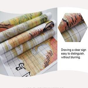 Image 4 - Everlasting Love Tiger Семейные китайские наборы крестиков экологический хлопок штампованный 14 11CT DIY подарок новогодние украшения для дома