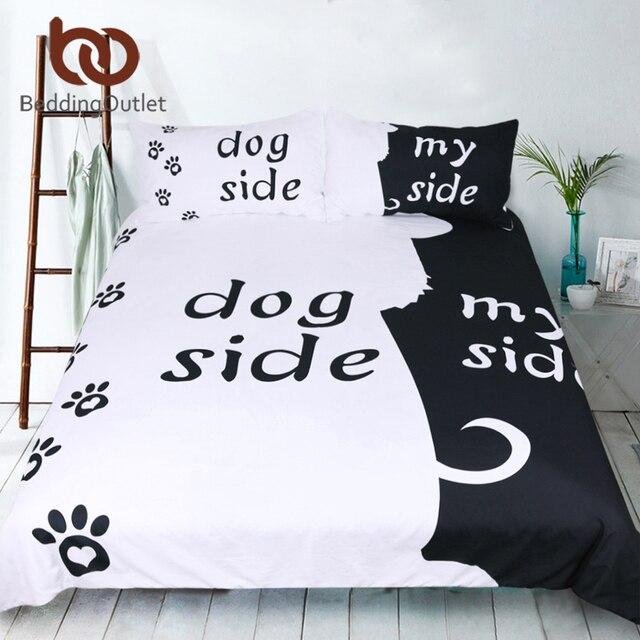 BeddingOutlet Phim Hoạt Hình Bộ Đồ Giường Bộ cho Trẻ Em Chăn Che Đặt Con Chó Bên và Bên Cạnh Tôi Trang Chủ Dệt May Pet Dấu Chân Đen Chăn Mền