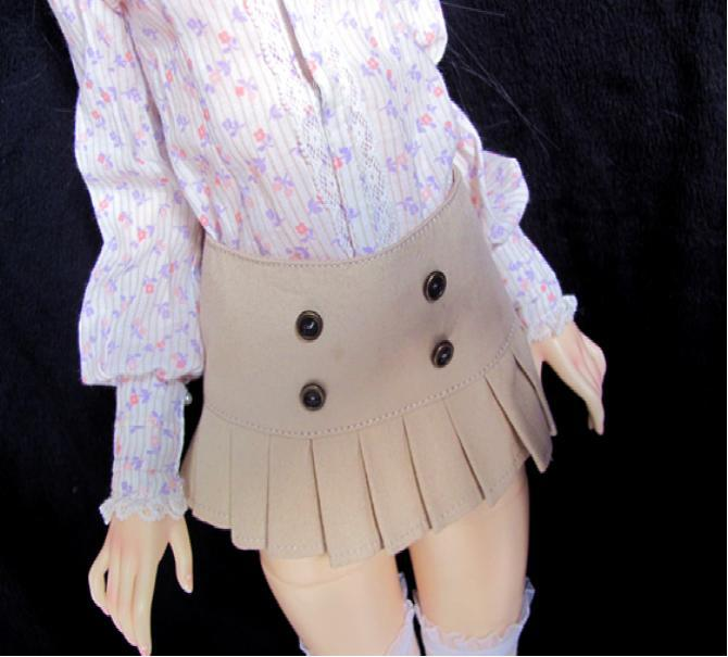 JCL-17 1/4 1/3 Fashion <font><b>BJD</b></font> doll <font><b>clothes</b></font> MSD SD doll outfit 7-8inch 8-9inch Pretty Short skirt Doll Clothing Doll Accessories image