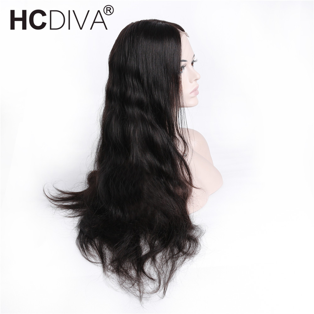Body Wave Wigs 13X4x2 Lace Frontal Wigs Pre Plucked With Baby Hair Middle Part Lace Frontal Wigs Brazilian Remy Hair HCDIVA